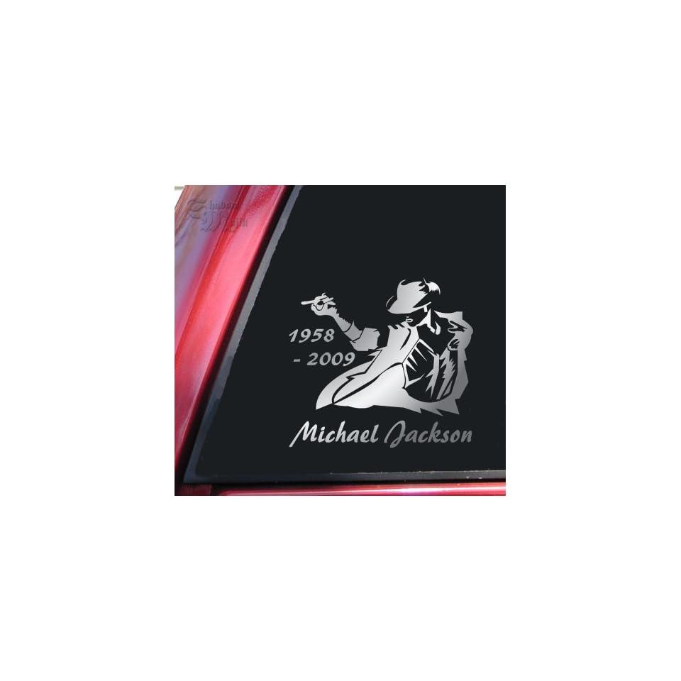 6 tall MICHAEL JACKSON SILHOUETTE   Vinyl Decal Sticker #A1623  Vinyl Color Black