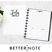 "BetterNote 2019-2020 Monthly Calendar for Disc-Bound Planners, Fits 11-Disc, Levenger Circa, Arc by Staples, TUL by Office Depot, Letter Size 8.5""x11"" Whimsy (Notebook Not Included)"