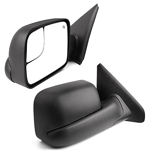 YITAMOTOR Dodge Towing Mirrors, Ram Power Heated Flip-up with Convex Lens Tow Mirrors (Pair set), for 2002-2008 Dodge Ram 1500, 2003-2009 Dodge Ram 2500 3500 Power Mirror Set