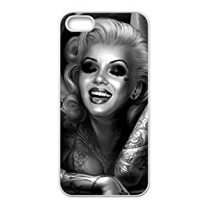 diy zhengZombie Marilyn Monroe Unique Design Cover Case for iphone 5/5s/,custom case cover ygtg692373