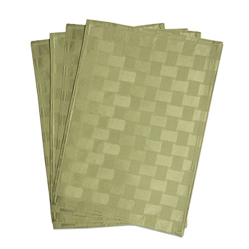 Four Placemats - Bardwil Linens Reflections Set of 4 Placemats, Sage