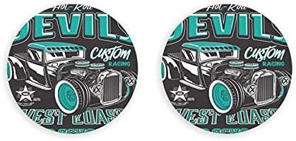 Abrebotellas, abridor de ilustraciones de coches personalizados Vector Hot Rod, imanes de nevera, sacacorchos con una sola mano, 2 piezas