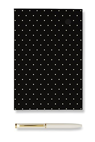 Kate Spade New York Loose Note Holder with Pen, Black Dots by Kate Spade New York
