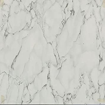 # Marble Square Tiles Self Adhesive Vinyl Tile Kitchen Flooring 1ft Sq each