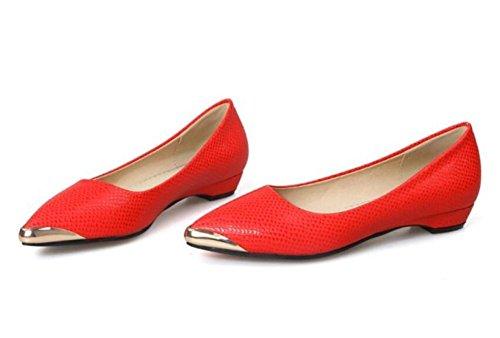 decorazione colpito del selvatici white colore il ha XIE sole pianamente freddi modello RED tribunale semplici pattini serpente singoli 39 scarpe poco dei Punta bocca 39 profonda di piedi qUqv6xf0