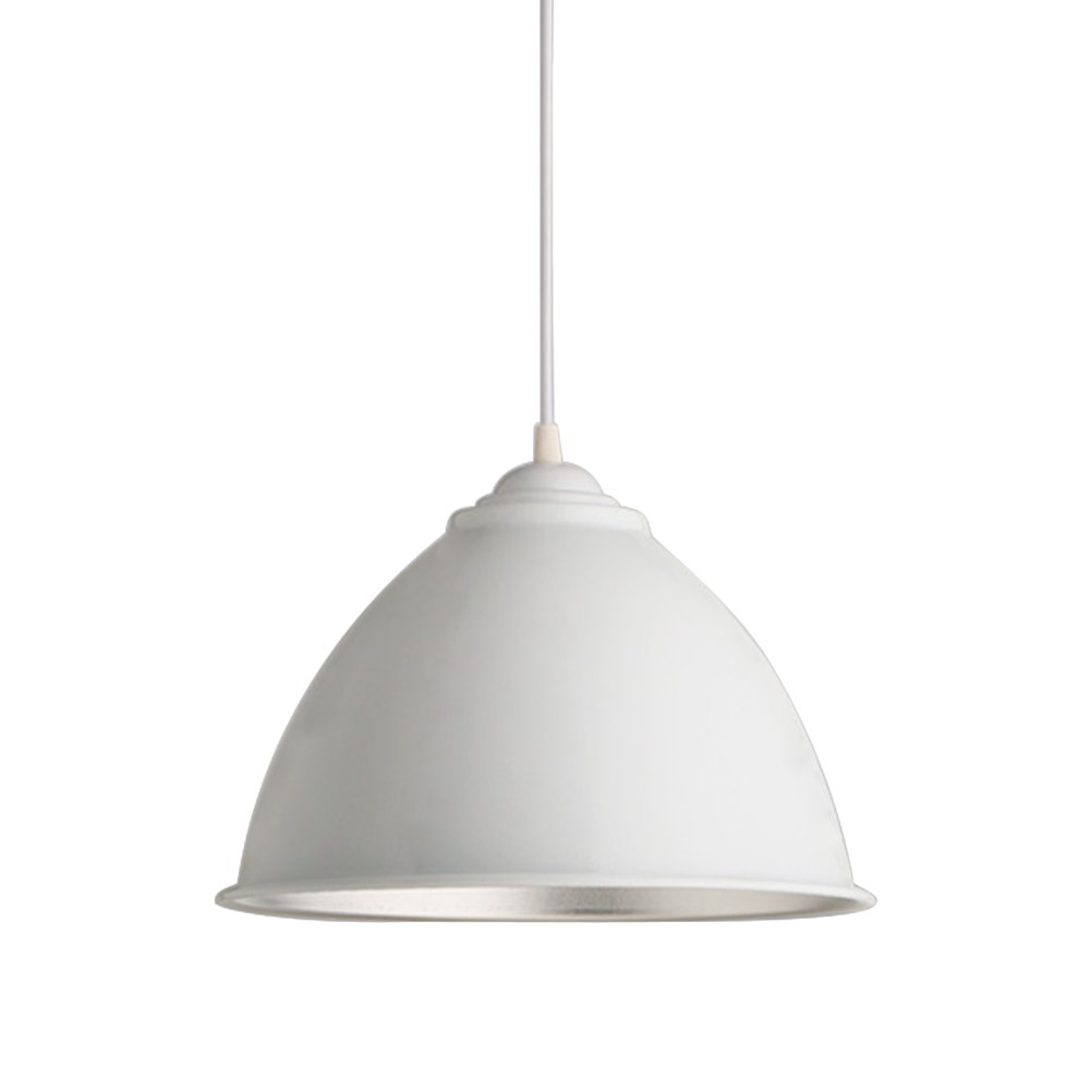 LEDMOMO Aluminum Ceiling Lamp Hanging Pendant Light with Shade for Cafe Restaurant (White Paint)