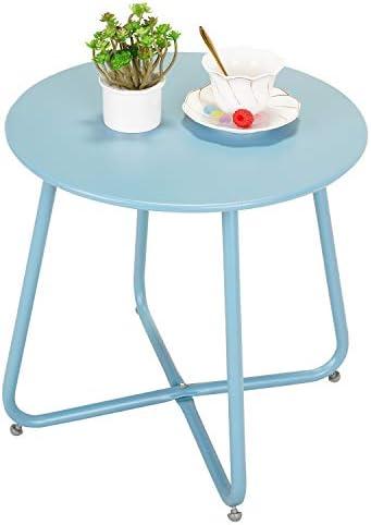 Grand patio Premium Indoor/Outdoor Round Metal Weather-Resistant Side/Accent Table