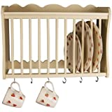 Wall Mounted Wooden Plate Rack - Large: Amazon.co.uk