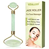 Facial Exercises Stretch Skin - Jade Roller for Face, Jade Facial Roller, Gua Sha Scraping Massager, Anti-aging 100% Natural Facial Jade Stone Set - Face Eye Neck Beauty Roller For Slimming & Firming