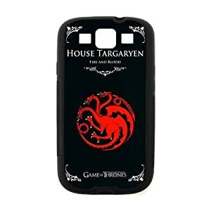 Vintage Retro Creative Game of Thrones House Targaryen Samsung Galaxy S3 I9300 Case Cover Hard Laser Technology HD pic Picture