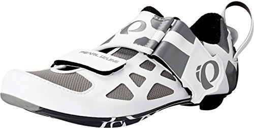 Pearl Izumi Women's W Tri Fly V Carbon W/b Tri Cycling Shoe, White/Black, 39 EU/7.5 B - Tri Cycling
