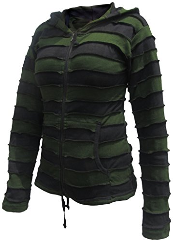 LITTLE KATHMANDU - Chaqueta - para mujer Green Black Striped