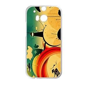 Happy Creative Tower Graffiti Custom Protective Hard Phone Cae For HTC One M8