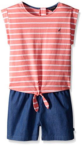 Nautica Jersey Stripe Chambray Romper