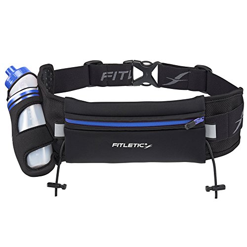 Cheap Fitletic Hydration Running Belt L/XL Black & Blue