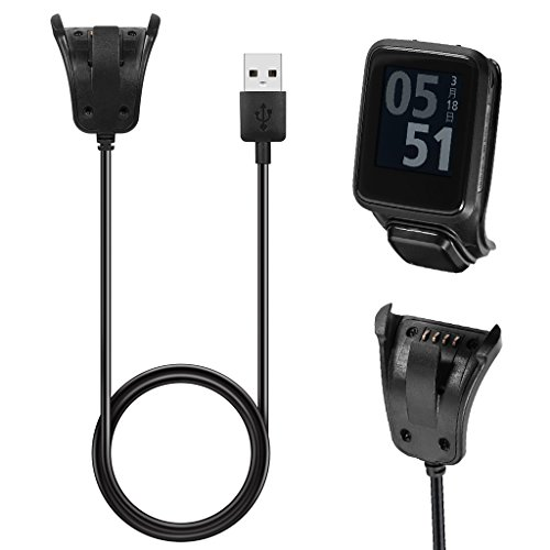 Forgun Data Sync USB Charger Clip Charging Cable For TomTom 2 3 Runner Golfer GPS Watch