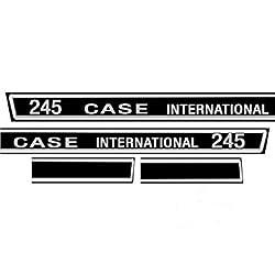 New Hood Decal C245D Fits Case IH 245