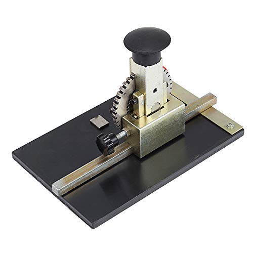 VEVOR Sheet Embosser Manual Deboss Metal Embosser Machine Dog Tag Specific Model Date Serial Number Stamping Embossing Marking Machine with 4MM Print Wheel by VEVOR (Image #2)