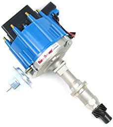 Pertronix D1202 Flame-Thrower Distributor HEI with Blue Cap for Pontiac Small Block/Big Block