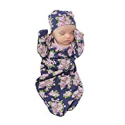 Baby Be Mine Newborn Gown and Hat Set Layette Romper Coming Home Outfit (Newborn 0-3 Months, Eve)