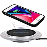 Qi Wireless Charger with Qi Wireless Charging Case for iPhone 7/6s/6(4.7inch- for Regular Size), ANGELIOX 10W Wireless Charging Mat Base for iPhone Xs Max/X/ 8 Plus,Galaxy Note 9/8/S9 Plus/S8+