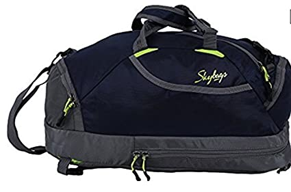 307b23797989 Image Unavailable. Image not available for. Colour  Skybags Polyester Blue Flip  3 Way Duffle Backpack