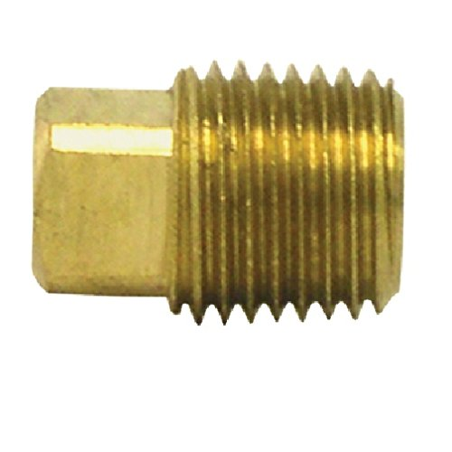 1//2 Pipe Thread Tectran 109-D Brass Square Head Plug Pack of 5