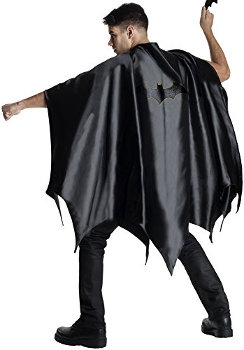 Black Adult Costumes Cape (Rubie's Costume Co Men's DC Superheroes Deluxe Batman Cape, Black, One Size)