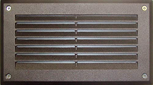 Dabmar Lighting DSL1000-BZ Louvered Down Incand 120V Step Light, Bronze Finish