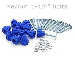 Pet Carrier Fasteners - Blue 16 Pack (Medium 1-1/4\
