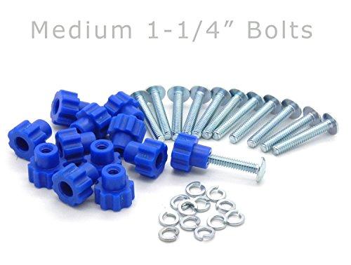 Pet Carrier Fasteners – Blue 16 Pack (Medium 1-1/4″ Bolts)