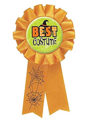 MA ONLINE Adults Halloween Best Costume Award Ribbon Unisex Fancy Dress Party Supplies One Size -