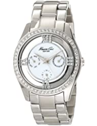 Kenneth Cole New York Womens KC4923 Transparency Silver Mother-Of-Pearl Dial Bracelet Watch