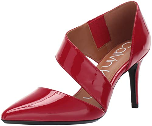 (Calvin Klein Women's Gella Dress Pump, Rouge Patent, 10 M US)
