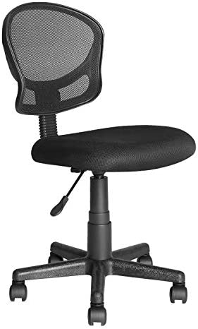 Home Office Low Back Computer Executive Chair by JJS, Ergonomic Mesh Chair with Extra Large Base and Pads