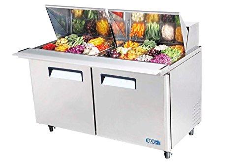 60in Cold Air Mega Top Cooler Sandwich Salad Prep 24 Pans