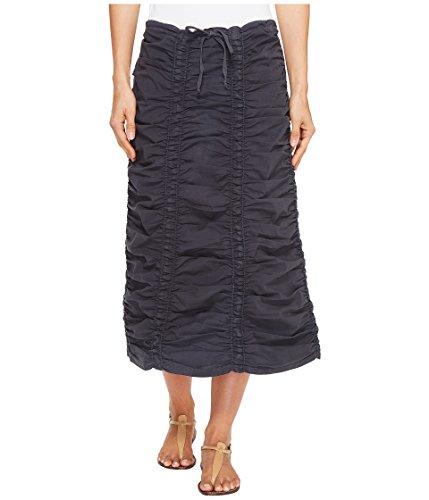 XCVI Women's Stretch Poplin Double Shirred Panel Skirt Charcoal X-Small ()