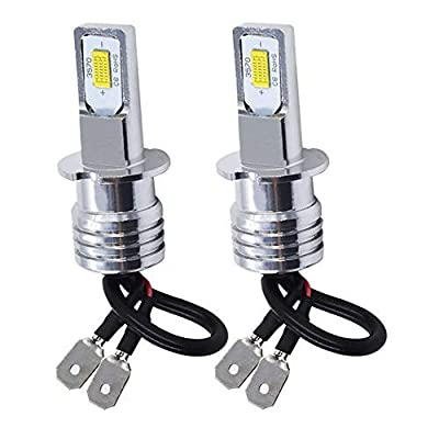 labwork 2pcs Extreme Super Bright LED H3 Fog Light Bulbs - High Power COB Universal H3 LED Bulb LED Headlights Bulbs Lamp Replacement - 6000K White: Automotive