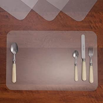 Amazon Com 4 Clear Plastic See Thru Placemats Place Mats