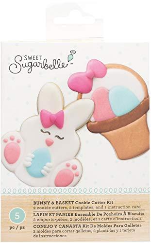 - American Crafts Sb341997 Sweet Sugarbelle Cookie Cutter Kit 5pcs-Bunny & Basket