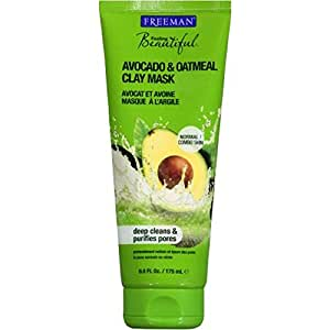 Freeman Facial Clay Mask, Avocado and Oatmeal, 6 Ounce (Pack Of 2)