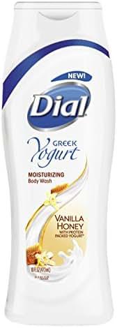 Dial Body Wash, Greek Yogurt Vanilla Honey with Moisturizers, 16 Fl Oz (Pack of 6)