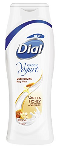 Dial Body Wash, Greek Yogurt Vanilla Honey with Moisturizers, 16 Fluid Ounces (Pack of 6) ()