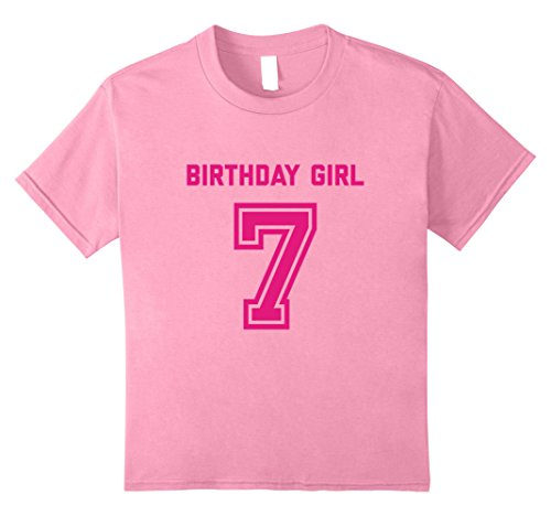Kids 7th Birthday Shirt Gift Age 7 Year Old Girl Tshirt Girls Tee 8 Pink