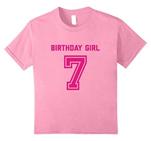 Kids 7th Birthday Shirt Gift Age 7 Year Old Girl Tshirt Girls Tee 8 Pink
