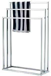 top home solutions free standing chrome 3 bar towel rail rack holder kitchen home. Black Bedroom Furniture Sets. Home Design Ideas