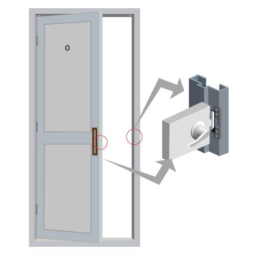 FPC-5390 Visionis VIS-EL100-FSE 1,100lbs Stainless Steel Electric Door Strike for Wood and Metal Doors 12v Fail Secure Normally Open with Power Supply by Visionis (Image #4)