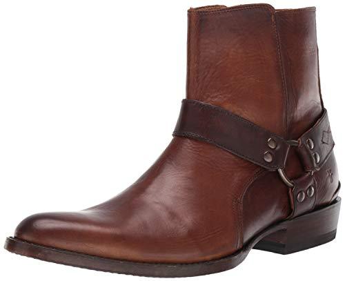 - FRYE Men's Austin Inside Zip Harness Fashion Boot, Dark Brown, 10 M Medium US
