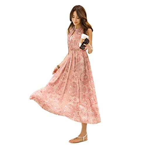 Qiyun 1077S0356 - Vestido para mujer Rosa