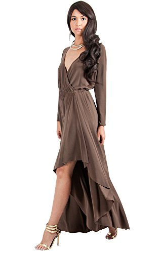 66070ad7e273c KOH KOH Plus Size Women Long Sleeve Sleeves Wrap Slit Split Formal Fall  Winter Cocktail Sexy Flowy Evening Day Abaya Gown Gowns Maxi Dress Dresses